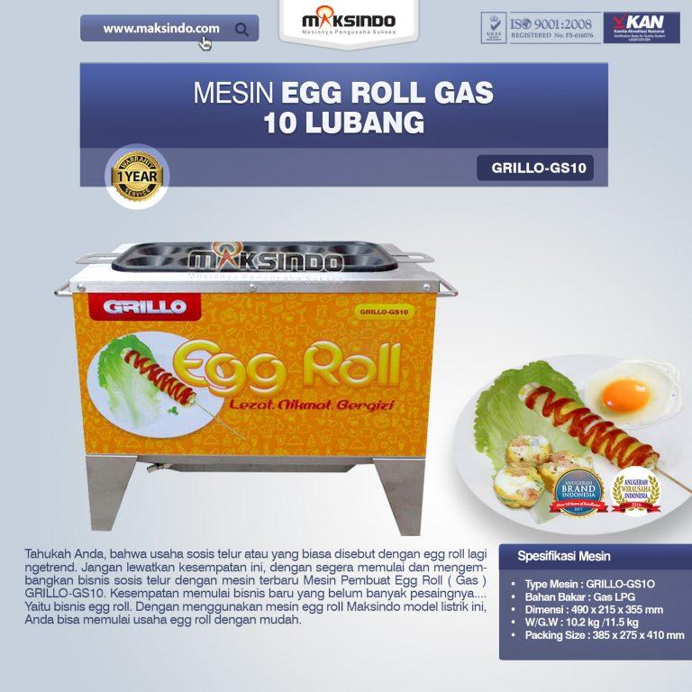 Jual Egg Roll Gas 10 Lubang GRILLO-GS10 di Palembang
