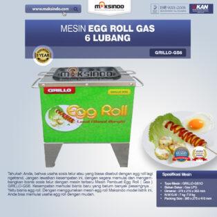 Jual Mesin Egg Roll Gas 6 Lubang GRILLO-GS6 di Palembang