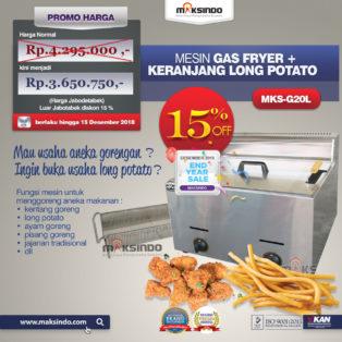 Jual Jual Mesin Gas Fryer MKS-G20L + Keranjang di Palembang