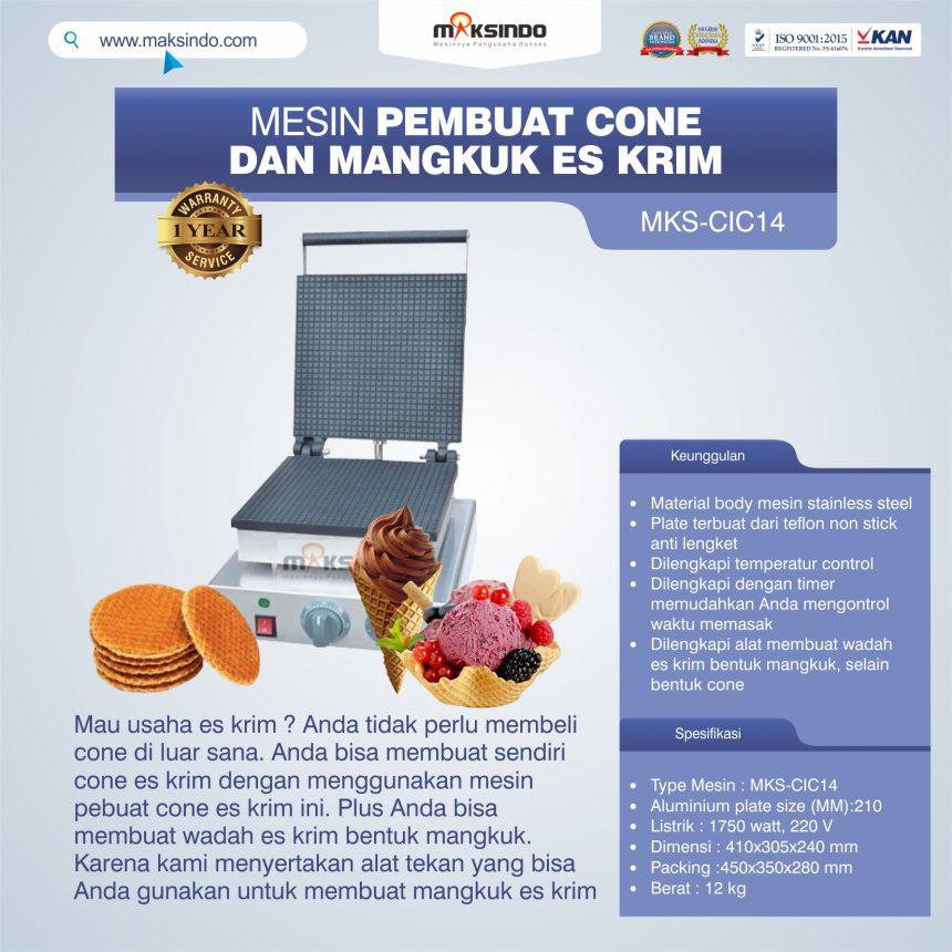 Jual Pembuat Cone dan Mangkuk Es Krim (CIC14) di  Palembang
