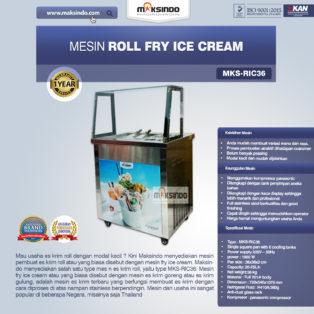 Jual Mesin Roll Fry Ice Cream (RIC36) di Palembang