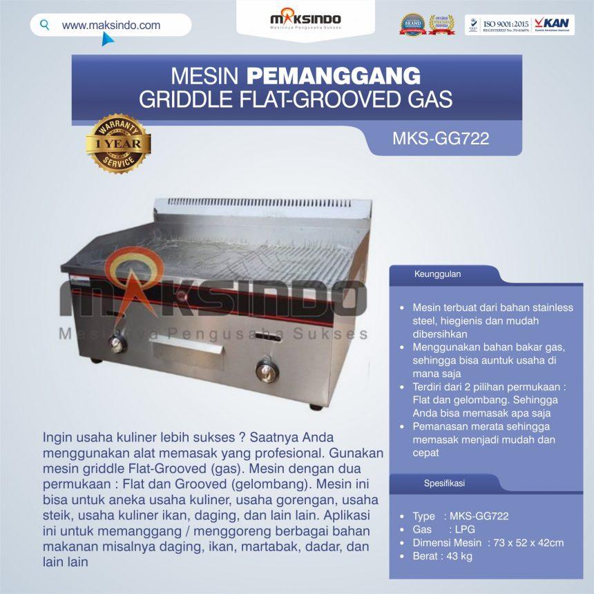 Jual Pemanggang Griddle Flat-Grooved Gas (GG722) di Palembang