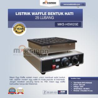 Jual Listrik Waffle Bentuk Hati 25 Lubang MKS-HSW25E di Palembang