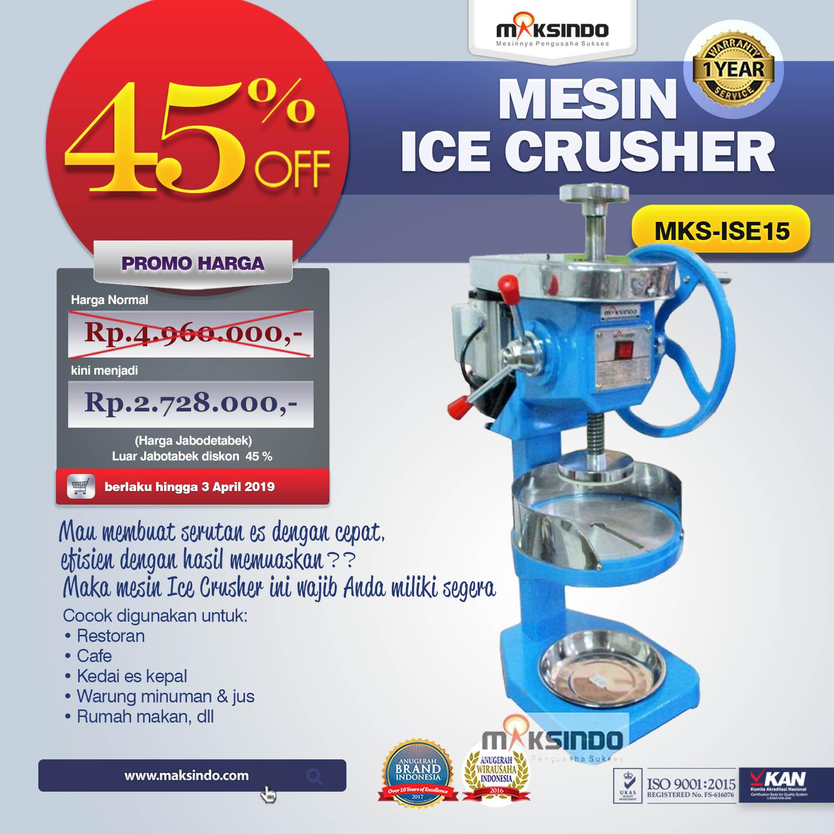 Jual Mesin Ice Crusher MKS-ISE15 di Palembang