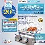 Jual Pemanggang Serbaguna – Gas BBQ Grill 2 Tungku Full Stainless di Palembang