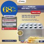 Jual Mesin Pembuat Egg Roll (Listrik) GRILLO-10SS di Palembang