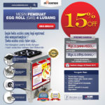Jual Mesin Pembuat Egg Roll (Gas) 4 Lubang MKS-ERG444 di Palembang