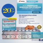 Jual Pemanggang Serbaguna Full Stainlees – Gas BBQ Grill 8 Tungku di Palembang