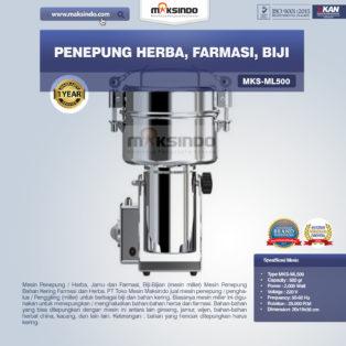 Jual Penepung Herba, Farmasi, Biji (ML500) di Palembang