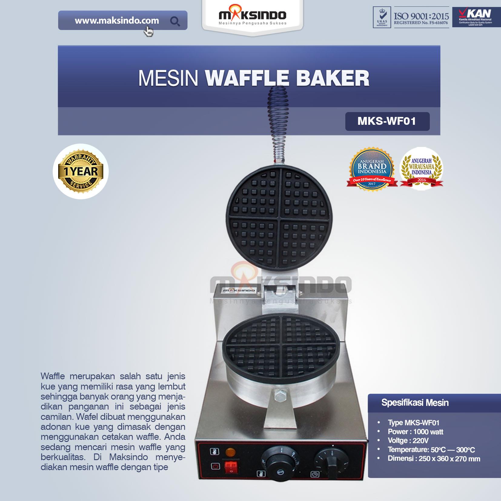 Jual Mesin Waffle Baker MKS-WF01 di Palembang