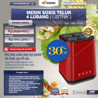 Jual Mesin Sosis Telur 4 Lubang Grillo-400 di Palembang