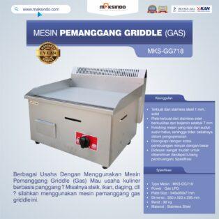 Jual Mesin Pemanggang Griddle (GAS) – GG718 di Palembang
