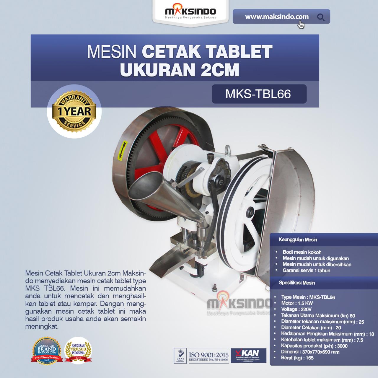 Jual Mesin Cetak Tablet Ukuran 2cm di Palembang