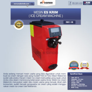 Jual Mesin Es Krim (Ice Cream Machine) ISC-16 di Palembang