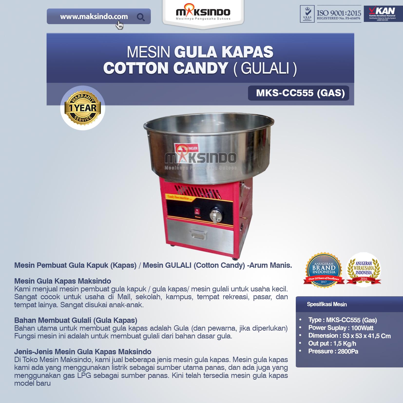Jual Mesin Gula Kapas Cotton Candy (Gulali) di Palembang