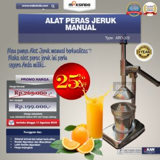 Alat Pemeras Jeruk Manual ARD-J22