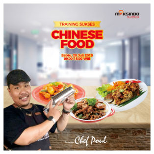 Training Sukses Chinese Food, Sabtu 20 Juli 2019