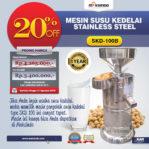 Jual Mesin Susu Kedelai Stainless (SKD-100B) di Palembang