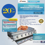 Jual Pemanggang Serbaguna Full Stainlees – Gas BBQ Grill 6 Tungku di Palembang