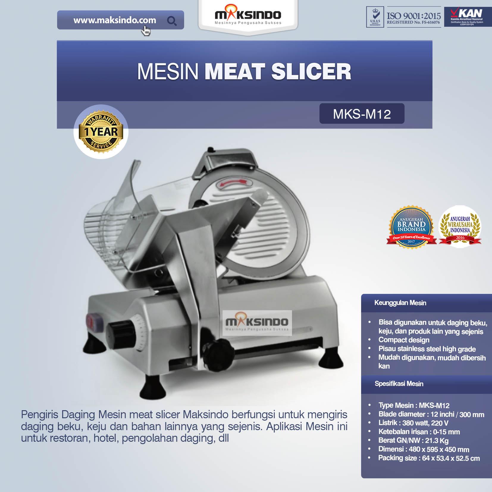 Jual Mesin Meat Slicer (MKS-M12) di Palembang