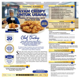 Training Sukses Ayam Crispy Untuk Usaha, 07 September 2019