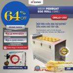Jual Mesin Pembuat Egg Roll (Gas) GRILLO-12SS di Palembang