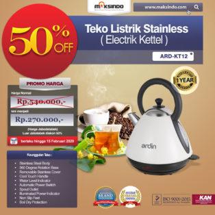 Jual Teko Listrik Stainless (Electrik Kettel) ARD-KT12 Di Palembang
