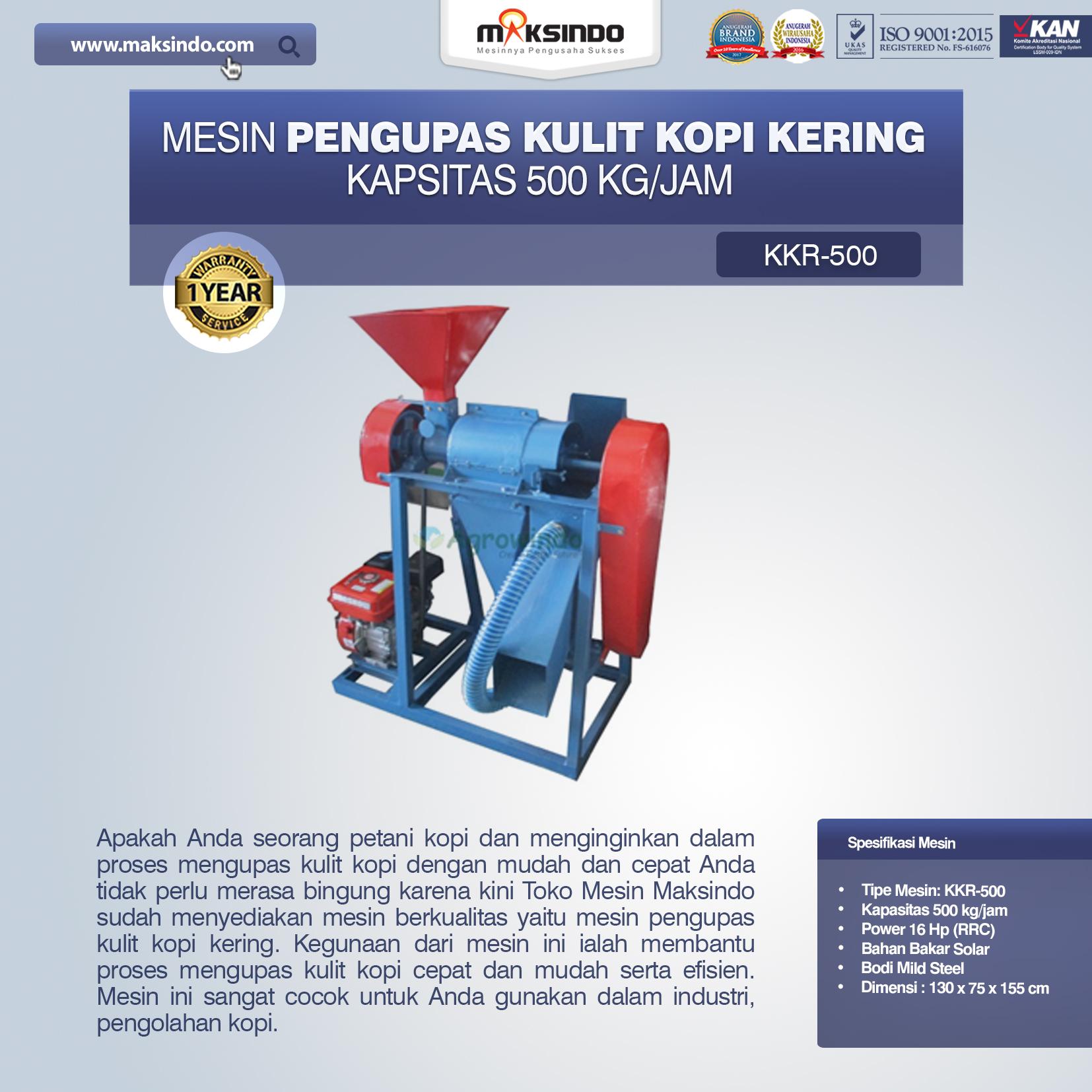 Jual Mesin Pengupas Kulit Kopi Kering di Palembang