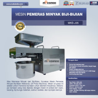 Jual Mesin Pemeras Minyak Biji-Bijian di Palembang