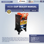 Jual Mesin Cup Sealer Manual (CPS-818) di Pelambang