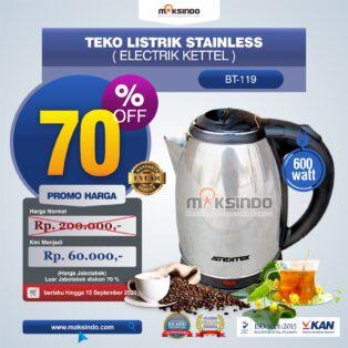 Jual Teko Listrik Stainless (Electrik Kettel) BT-119 di Palembang