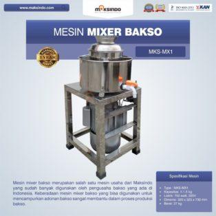 Jual Mesin Mixer Bakso MKS-MX1 di Palembang