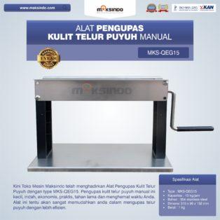 Jual Alat Pengupas Kulit Telur Puyuh Manual MKS-QEG15 di Palembang