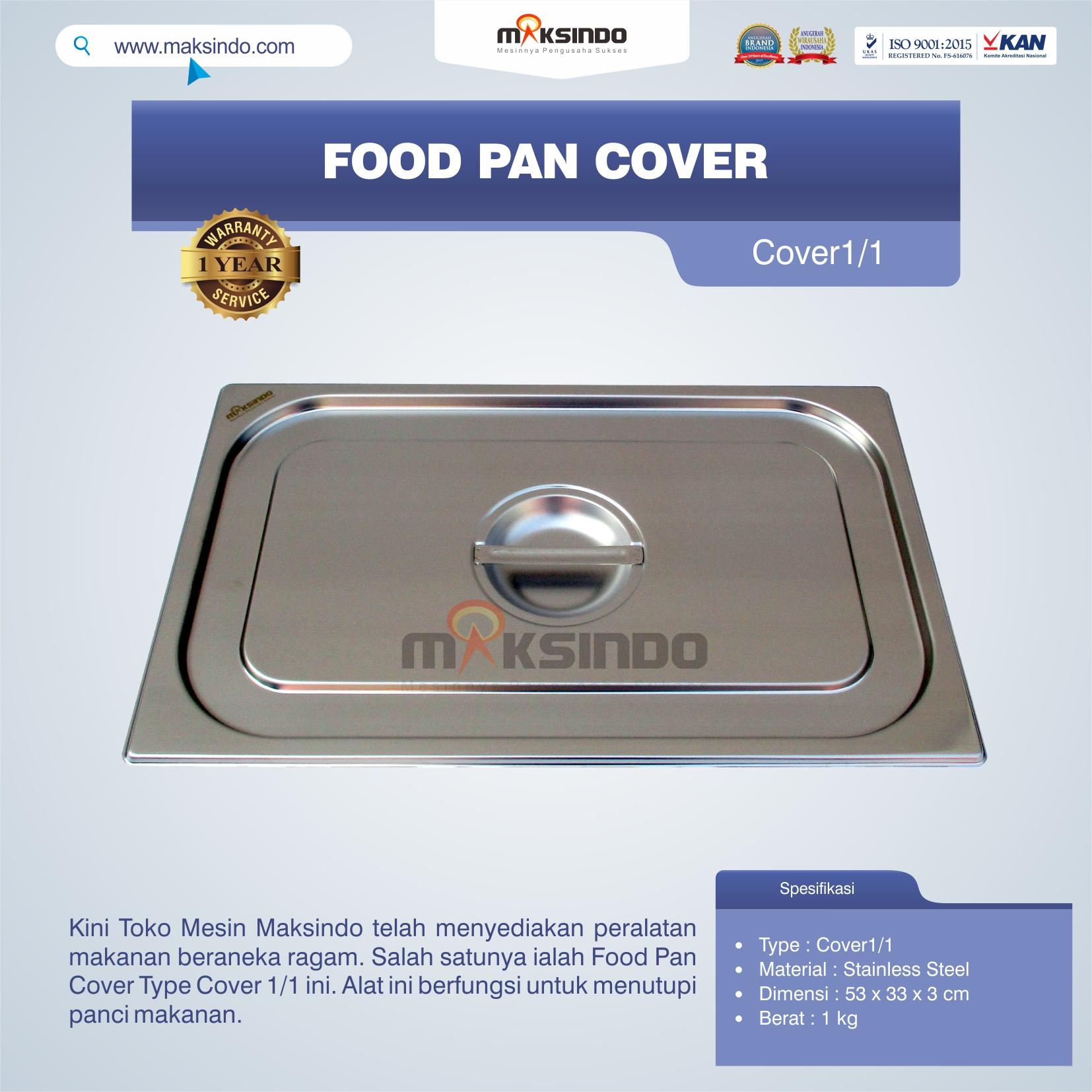 Jual Food Pan Cover Type Cover1/1 di Palembang