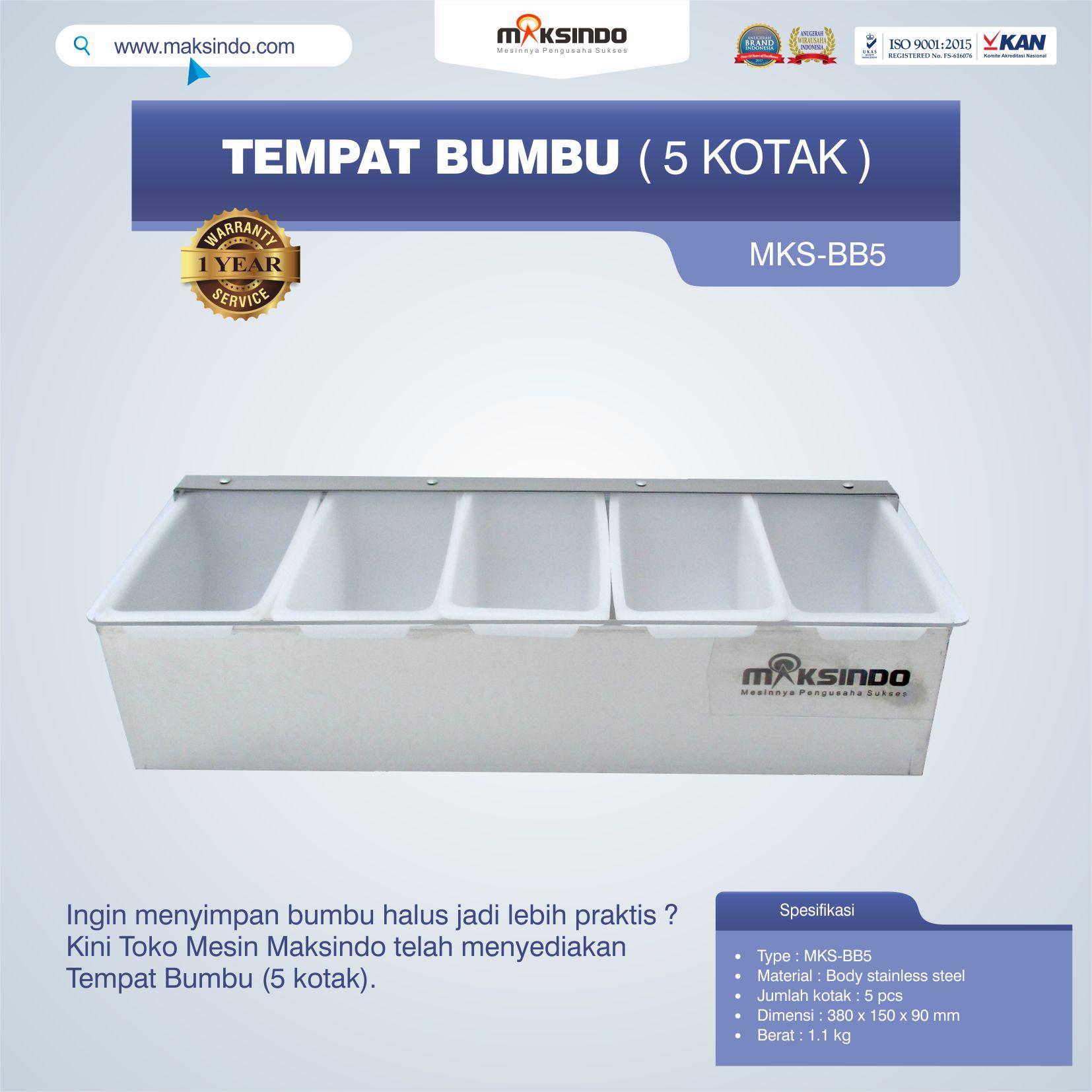 Jual Tempat Bumbu (5 Kotak) Di Palembang