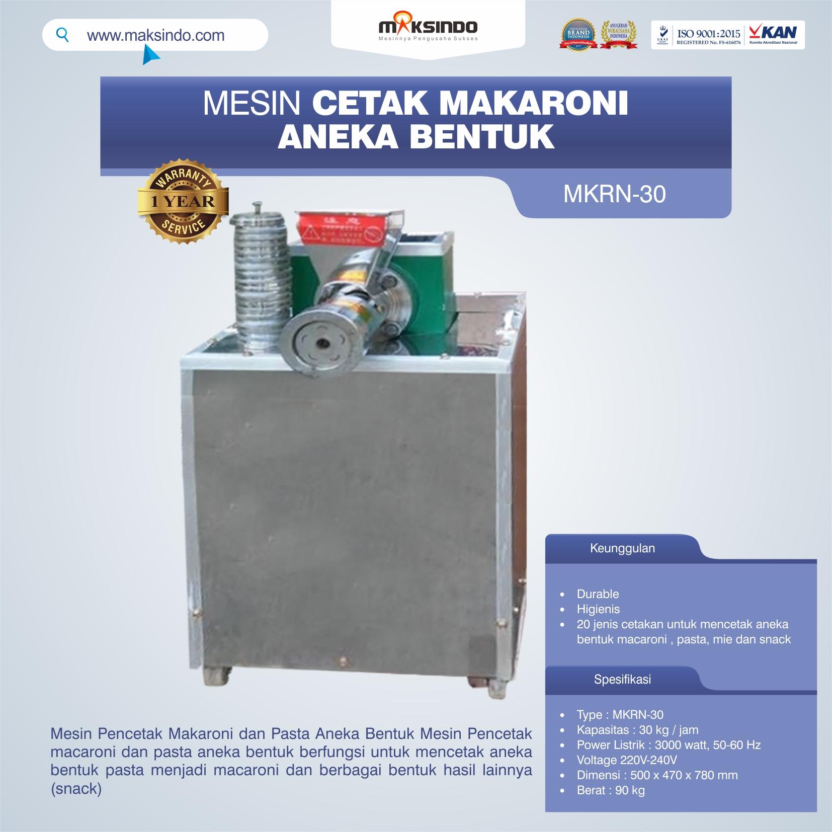 Jual Mesin Cetak Makaroni Aneka Bentuk di Palembang