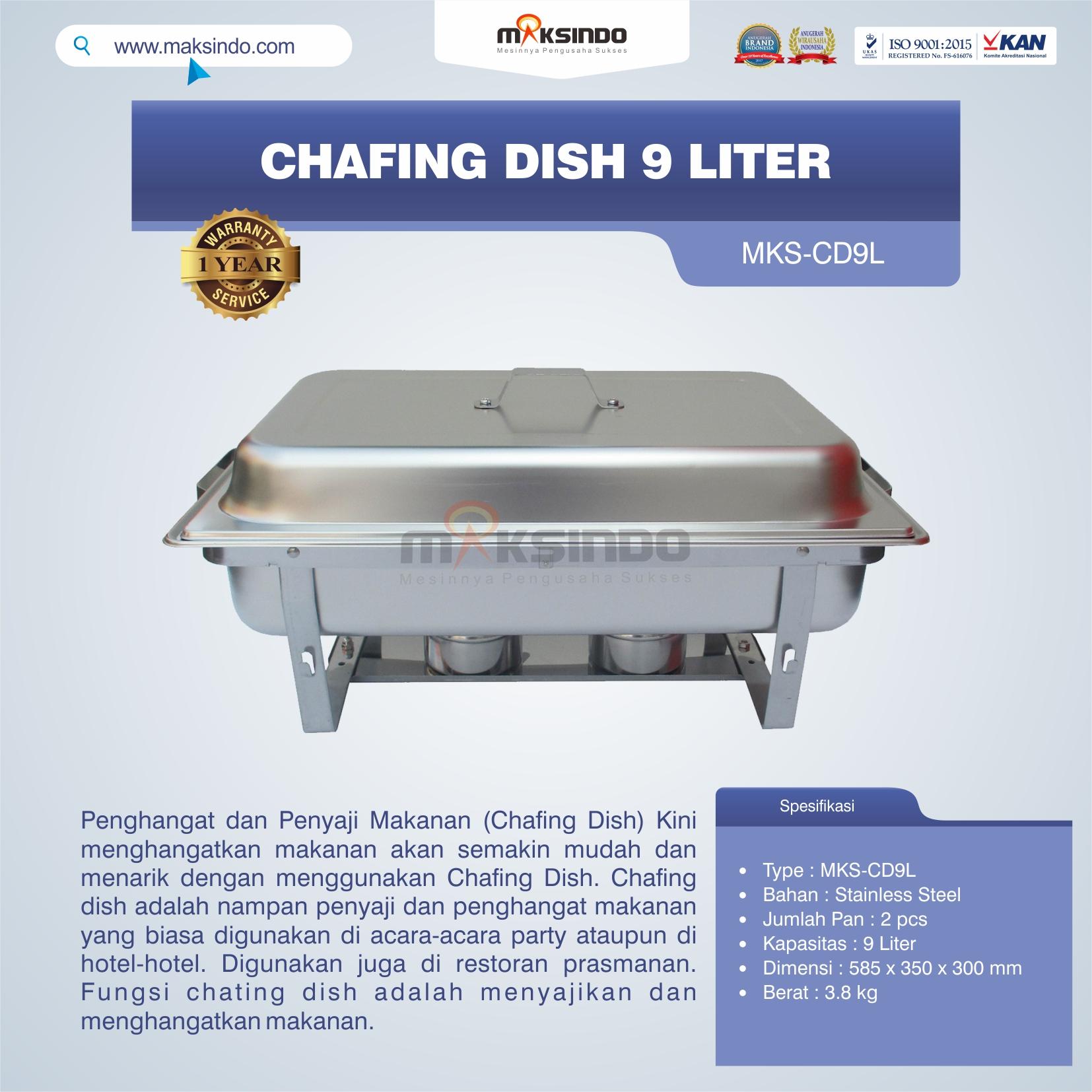 Jual Chafing Dish 9 Liter di Palembang