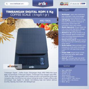 Jual Timbangan Digital Kopi 5 kg ARD-TBG5 (coffee scale) di Palembang