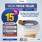 Jual Mesin Tetas Telur 10 Butir AGR-TT-10 di Palembang