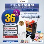 Jual Cup Sealer Manual Plus Counter (CPS-919) di Palembang