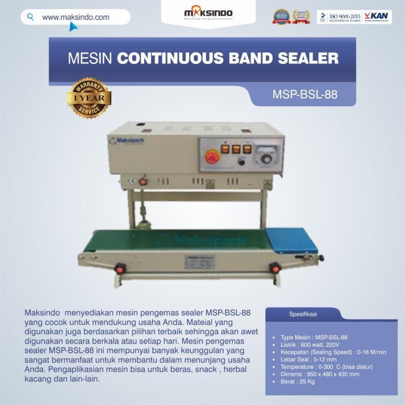 Jual Mesin Continuous Band Sealer MSP-BSL-88 di Palembang