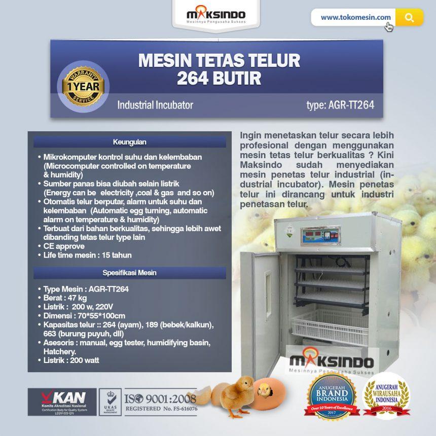 Jual Mesin Tetas Telur Industri 264 Butir (Industrial Incubator) di Palembang