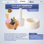 Jual Alat Pembentuk Mangkuk Cone Es Krim MKS-MC01 di Palembang