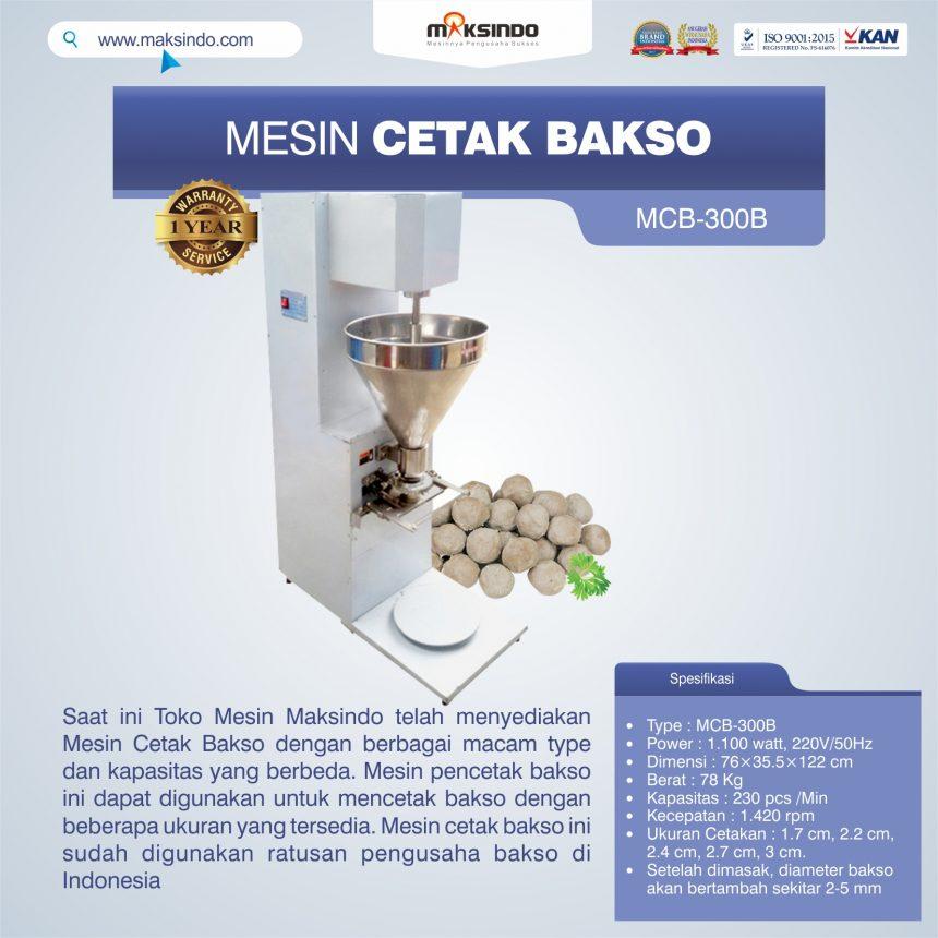 Jual Mesin Cetak Bakso MCB300B di Palembang