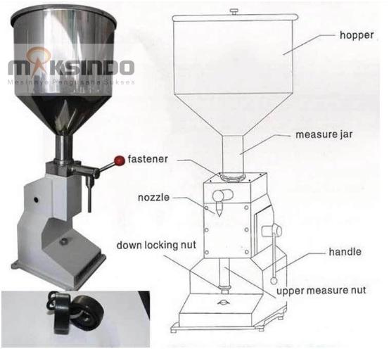 Jual Mesin Manual Filling Cairan-Pasta – MKS-MF10 di Palembang