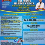 Workshop Jadi Juragan Dapur (Bisnis Kuliner) 25 – 26 Maret 2017