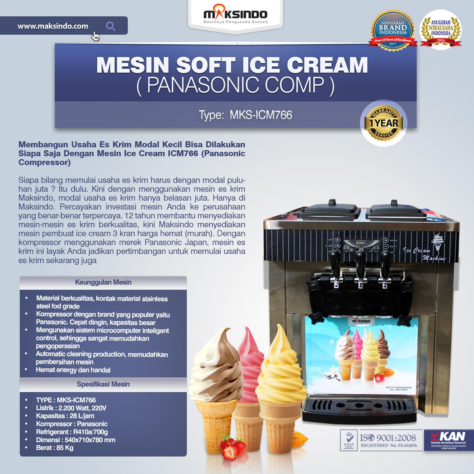 Jual Mesin Soft Ice Cream ICM766 (Panasonic Comp) di Palembang