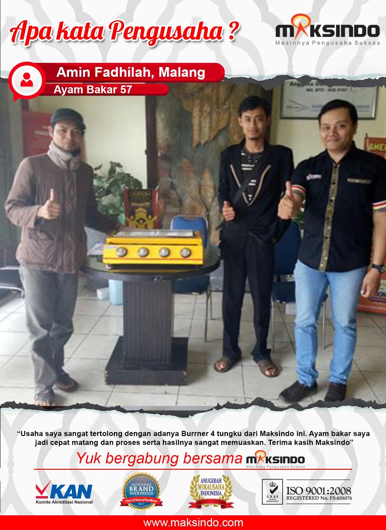Ayam Bakar 57 : Usaha Sangat Terbantu Dengan Adanya Mesin Burner 4 Tungku Maksindo