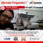 Nanda-Volant Burger : Usaha Saya Makin Lancar Berkat Mesin Berkualitas dari Maksindo