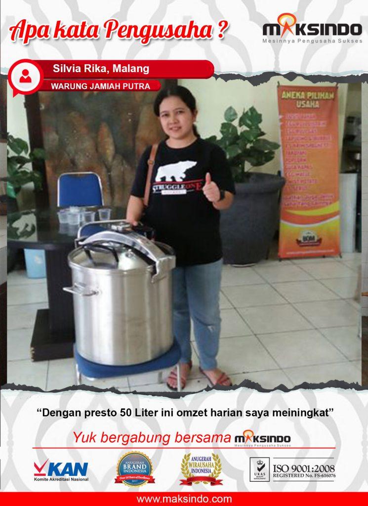 Warung Jamiah Putra : Omzet Meningkat Berkat Mesin Presto Maksindo